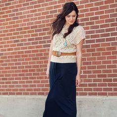 maxi dress + vintage