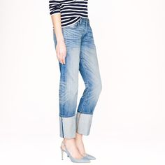 Pin for Later: See J.Crew's New Jeans From Every Single Angle J.Crew Point Sur Denim J.Crew Point Sur Slim Stacker Japanese Selvedge Jean in Klutey Wash ($258)