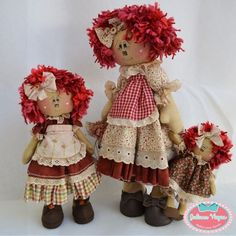 Annie's Family - Juliana Viegas Ateliê Jeune Fille Anni Downs, Raggedy Ann And Andy, Annie, Gingerbread, Harajuku, Teddy Bear, Dolls, Pillows, Country