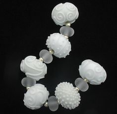 Debbie Sanders- love these gorgeous White Lampwork beads!