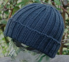 Ravelry: Mark's Butch, Macho Roll-Brim Seaman's Watch Cap pattern by Mark Thrailkill Mens Knit Beanie, Knit Hat For Men, Crochet Beanie, Knitted Hats, Knit Crochet, Crochet Hats, Men's Beanie, Beanies, Beanie Knitting Patterns Free