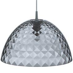 Koziol Stella M Hanging Lamp - modern anthracite pendant light