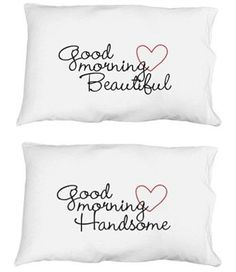 Cute pillowcases! A very romantic gift for the 2 year anniversary since cotton is the traditional gift :)