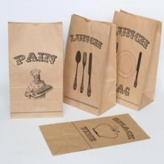 Lunch Bag Favors {printables}- with sandwiches wrapped in wax paper and wrapped in baker's twine