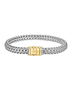 Bedeg Gold-Station Bracelet, Small by John Hardy at Neiman Marcus.