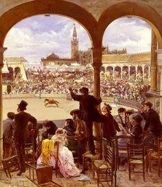 La Plaza de Toros. 1870. Obra de José Jiménez Aranda