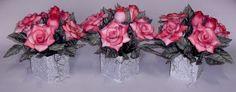 Vasos Rosas Centro de mesa Formatura Simone Uller Rosas Artesanais