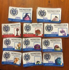 Monsters University Fall Welcome Door Decs for Residents (made by RA). Free Printable Tags