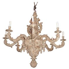 1940s Louis XIV Style Large Chandelier | 1stdibs.com