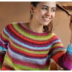 Noro Kirara Sweater (Free). From the buttom-up.