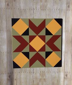 Barn Quilt 1511 by Barefootpeddler on Etsy Barn Quilt Designs, Barn Quilt Patterns, Quilting Designs, Quilting Patterns, Quilting Projects, Sewing Projects, Crafty Projects, Wood Projects, Painted Barn Quilts