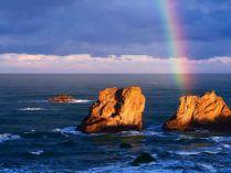 Arco-íris no mar