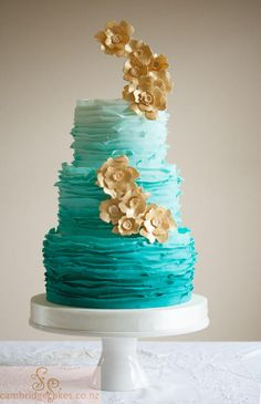 Sp.Iced teal ombre frills & gold.