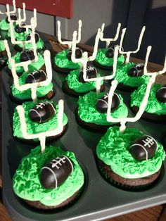 Super Bowl football cupcakes