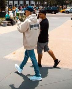 "Justin Bieber wearing Purpose Tour Xo Barneys New York ""Purpose Tour"" Hoodie and Adidas Ultra Boost in White/Silver Metallic"