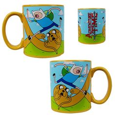Adventure Time 20 oz. Mug with Jake Handle - Classic Imports - Adventure Time - Mugs at Entertainment Earth