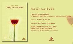 Antítesis Editorial:     Presentación de CANTOS DE LA MAÑANA de Delmira...
