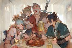 Bandit's Feast, Tim Löchner on ArtStation at https://www.artstation.com/artwork/DQDGo
