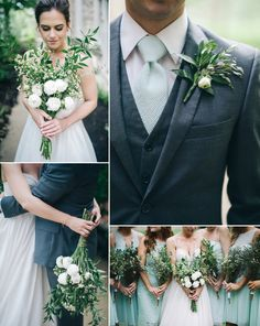 simple organic and garden inspired wedding - St. Louis Wedding Photography - Charis Rowland Photography - mint gray and white - roses and laurel - detail shots