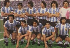 1979 Argentina, Top, left to right: Daniel Alberto Passarella, René Orlando… Retro Football, Football Soccer, Soccer Teams, Fifa, Argentina Football, Diego Armando, Argentina National Team, National Football Teams, Soccer World