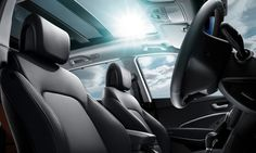 Enjoy breath-taking views from the comfort of your seat with the #Hyundai #SantaFe's Panoramic Sunroof. Offering even more openness compared to a conventional panoramic sunroof, the Santa Fe's sunroof will ensure all passengers can enjoy the wind in their hair.