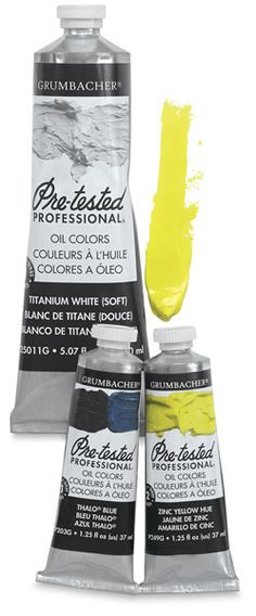 Pre-Tested Artists' Oil Colors from Dick Blick - Grumbacher is the only brand I've ever used.  It is excellent.