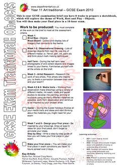 GCSE Traditional Exam Brief - Work Rest and Play: Objects