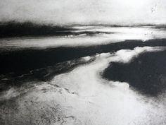 Chrissy Norman(British) Winter Morning, Woodbridge I monotype Tinta China, Watercolor Sketch, Ink Painting, Abstract Landscape, Art Photography, Fine Art, Norman Ackroyd, Etchings, Prints