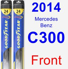 Front Wiper Blade Pack for 2014 Mercedes-Benz C300 - Hybrid