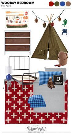 Woodsy Outdoor Boy's Bedroom design via Honesttonod.com