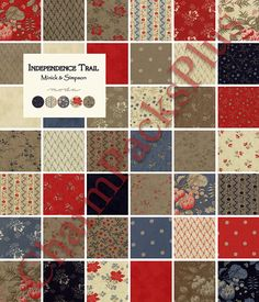 minick and simpson fabrics | ... Moda Charm Pack - Five Inch Quilt Fabric Squares by Minick and Simpson