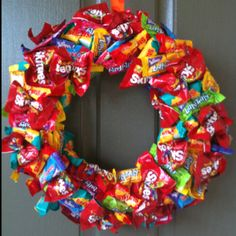 resreved for lady villalona zoo bags birthdays large and love this - Halloween Candy Wreath