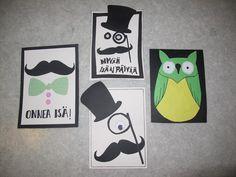 Moderneja isänpäiväkortteja (Alakoulun aarreaitta FB -sivustosta / Maija Kansanen) Fathers Day, Diy And Crafts, Card Ideas, Kids, Activities For Kids, Father's Day, Cards, Young Children, Boys
