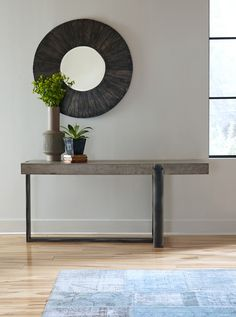 Many people today are confused when they think of the furniture term console table. In the past, consoles or hall tables were largely used as a decorative table or furniture item placed within a living area to store or display… Continue Reading → Concrete Table, Concrete Furniture, Design Furniture, Recycled Furniture, Modern Furniture, Iron Console Table, Modern Console Tables, Modern Sofa Table, Industrial Interior Design