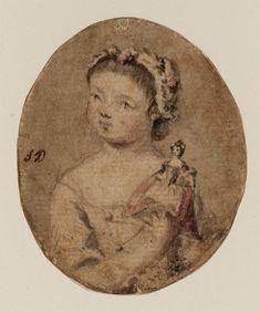 Susanna Duncombe (née Susanna Highmore) 'Portrait of a Girl Holding a Doll', c.1765