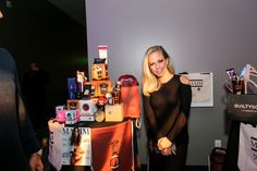 We hope @Kendra_Wilkinson_baskett enjoys her football drawstring bag, received at @GBK's Maxim Super Bowl Party.
