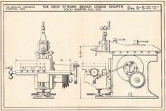 Six Inch Stroke Bench Crank Shaper
