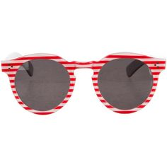 bcdb111aab64 Pre-owned Illesteva Leonard II Striped Sunglasses ( 125) ❤ liked on Polyvore  featuring