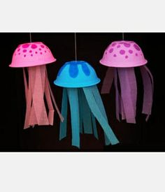 Really cute Jellyfish craft! Beach themed parties, ocean parties, or just for fun!
