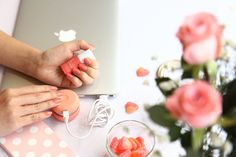 The peach colour as sweet as candy 🍬😘 #happythursday  Get this Peach gel manicure kit for only RM128 after discount (apply SOFT20% code during checkout) via https://leminimacaron.com.my/collections/gel-manicure-kits/products/peach-gel-manicure-kit