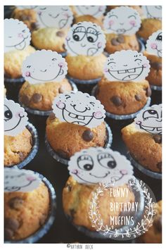 # diy # craft # illustration  Funny little muffins for the birthday of my 4 year old little girl :)!