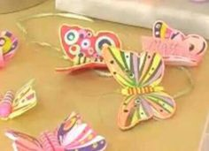 Polymer clay butterflies! Favecrafts.com (and a Youtube video)