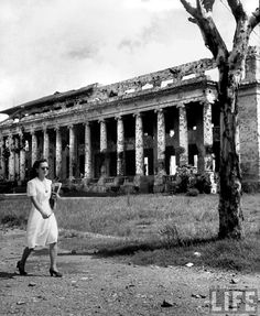 University of Philippines campus building showing war damage, Manila, Philippines, July 1946 | Flickr - Photo Sharing!