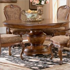 Largo Furniture Traviata 60'' Round Dining Table in Umbria - D121A-32B-T-KIT