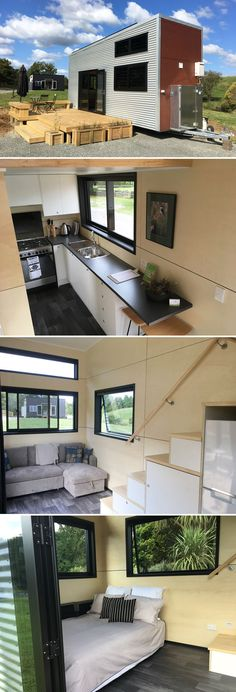 The Boomer is an off-grid capable tiny home from New Zealand-based Build Tiny. The modern home was designed with the short-term rental market in mind.