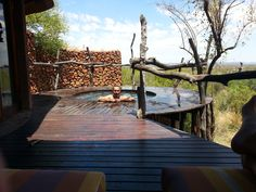 At the lodge, we were greeted most cheerfully and offered welcome drinks.  Then we were taken to our huts.  The huts were spacious, with a small dipping pool on the back porch of each hut.