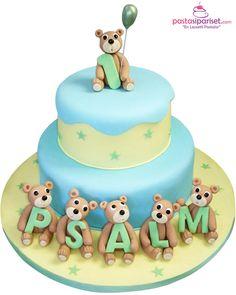 Ayıcık Doğum Günü Pastası Birthday Cake, Desserts, Tailgate Desserts, Deserts, Birthday Cakes, Postres, Dessert, Cake Birthday, Plated Desserts