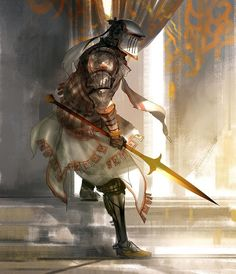 Long Days End with Simple Knights by Kekai Kotaki - Your Daily Dose of Amazing beautiful Creativity and Digital Art - Fantasy Characters: Archers Assassins Astronauts Boners Knights Lovers Mythology Nobles Scholars Soldiers Warriors Witches Wizards Concept Art World, Fantasy Concept Art, Fantasy Armor, Fantasy Character Design, Medieval Fantasy, Character Design Inspiration, Character Concept, Character Art, Warrior Concept Art
