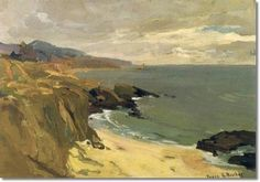 The-California-Coast by Franz Bischoff Contemporary Landscape, Abstract Landscape, Seascape Paintings, Landscape Paintings, Ocean Scenes, Art Thou, Beautiful Paintings, Diy Painting, Painting Inspiration