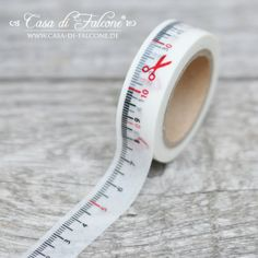 Masking Tape Maßband: Masking Tape Maßband - Washitape trendig & dekorativ ♥ Bedrucktes Reispapier ♥ 15 mm breit, 10 m lang ♥ wieder ...